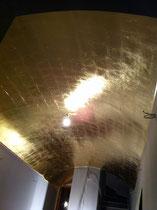 Plafond en voute à la feuille de cuivre