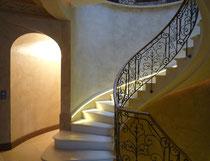 Patine vieille chaux dans villa. Réalisé pour projet  Giustini Design - Nice