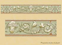 Création de motif pour frise en façade