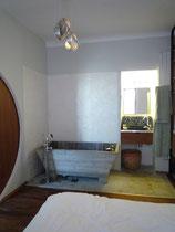 Création d'une baignoire maçonnée en béton banché