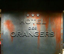 Effet fonte rouillée pour réception hôtel