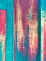 Patine colorée sur bois ancien