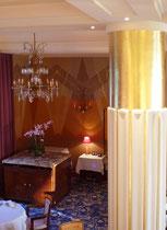 Dorure à l'or fin hotel Belles Rives, Juan les pins. Coopération avec Studio Borghèse