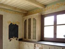 frise et ardoise peinte pour une  cuisine. Réalisé pour Giustini Design - Nice