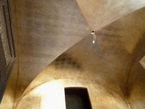 Création à la feuille d'aluminium, plafond de salle de bain. Réalisé pour projet  Giustini Design - Nice