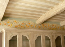 Frise peinte pour une cuisine. Réalisé pour Giustini Design - Nice