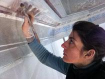 Restauration d un plafond à la chaux - Nice