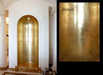 Hotel particulier. Feuille de cuivre dans Alcôve
