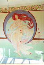 décor peint dans une chambre