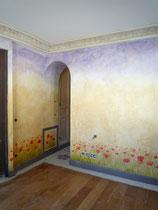 décor d'ambiance pour chambre fille. Réalisé pour Giustini Design - Nice