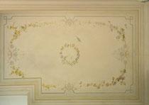 restauration à la chaux plafond de chambre. Réalisé pour projet  Giustini Design - Nice