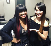 """LiLi with Shanice (Famous american singer of """"I Love Your Smile"""" song)"""