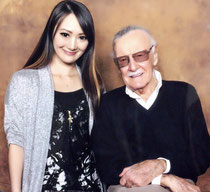 LiLi with Stan Lee (Creator of Marvel)