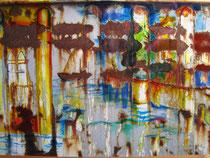 Abendstimmung in der Lagune, Fotolasur, 2013, 60x40