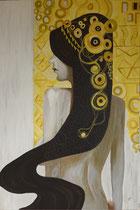 Melissa I, Acryl auf Leinwand, 150x100x3,8 cm
