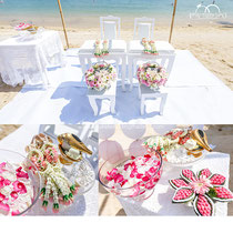 Tradtional Beach Thai Wedding Blessing