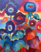 Sonnenblumen 5   100 x 80 cm   Acryl auf Leinwand