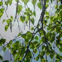 Birkenäste 2  100 x 100 cm   Acryl auf Leinwand