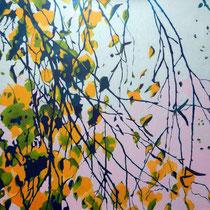 Birkenäste 1  100 x 100 cm   Acryl auf Leinwand