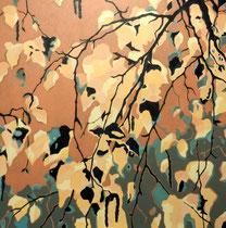 Birkenäste 3  100 x 100 cm   Acryl auf Leinwand