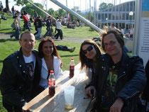Michel und ich mit unseren Frauen