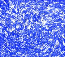 Blauer Schwarm 04    2020, 160 x 140 cm, arylic on canvas