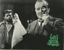 Erscheinungsjahr und deutsche EA: 1959: Der Frosch mit der Maske, Regie: Harald Reinl, Hauptdarsteller: Joachim Fuchsberger
