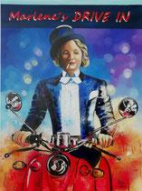 """""""Marlenes DRIVE IN"""", Acryl auf Leinwand 80 x 60 cm, 1.000 €"""