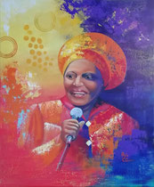 """Mama Afrika"" Acryl und Öl auf Leinwand 60 x 50 cm, 450 €"