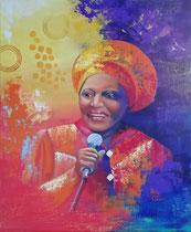 """Mama Afrika"" Acryl und Öl auf Leinwand 60 x 50 cm"