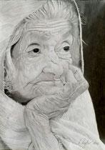 """""""Lebenslinien"""", Bleistiftzeichnung, 43 x 33 cm,  VERKAUFT!"""