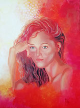 """I dream of better times"", Acryl auf Leinwand 80 cm x 60 cm"