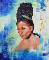 """Abiola"" (Geboren in Würde), Acryl auf Leinwand 50 x 60 cm,  600,-€"