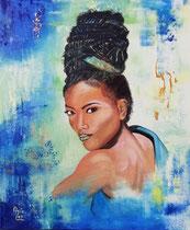 """Abiola"" (Geboren in Würde), Acryl auf Leinwand 50 x 60 cm"