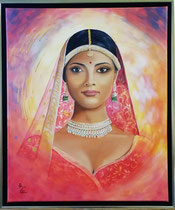 """Suryakanta"", Acryl und Öl auf Leinwand 50 x 60 cm"