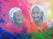 """Together is better"", Acryl auf Leinwand 60 x 80 cm"