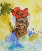 """""""Havanna"""" Acryl auf Leinwand im Schattenfugenrahmen, 50 x 60 cm, 600,-€"""