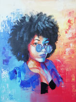 """Michelle"", Acryl auf Leinwand 80 x 60 cm"