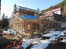 12月9日 野底山は ひと足先に冬景色に。