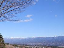 1月初旬 ピクニック広場から見る南アルプス
