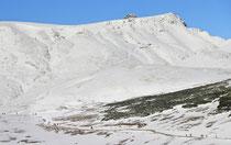 Schneeberg - 25.Oktober 2014_049 - Fischerhütte 2049 m mit Kaiserstein 2061 m