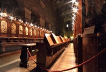 Stift Heiligenkreuz - 17.November 2014_092- Das Chorgestühl stammt aus der Barockzeit und wurde von Giovanni Giuliani aus Venedig († 1744) angefertigt.