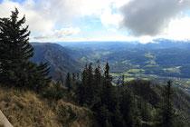 Rax - 18.Oktober 2014 - Blick ins Tal von der Bergstation