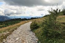 Rax - 16.August 2011 - Blick zurück zur Bergstation