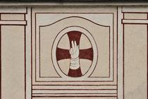 Stift Heiligenkreuz - 17.November 2014_009 Das Wappen von Heiligenkreuz, eine Schwurhand.