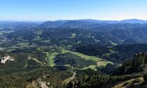 Rax - 06.Oktober 2012 - Blick ins Tal von derVilma Haid Aussicht