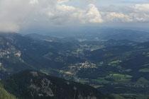 Rax - 16.August 2011 - Blick von der Vilma Haid Aussicht ins Tal