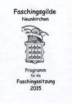 NK Faschingssitzung - 09.Jänner 2015 - Nr.002a - Programm