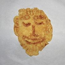 noch ein Gesicht - ein ander mal werde ich weiter experimentieren - 15.Dezember 2014