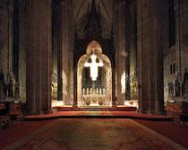Stift Heiligenkreuz - 17.November 2014_085 - Im 12. Jahrhundert die dreischiffige Basilika in romanischem Stil fertig gestellt